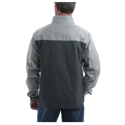 Cinch Men's Textured Color Blocked Bonded Jacket - Grey