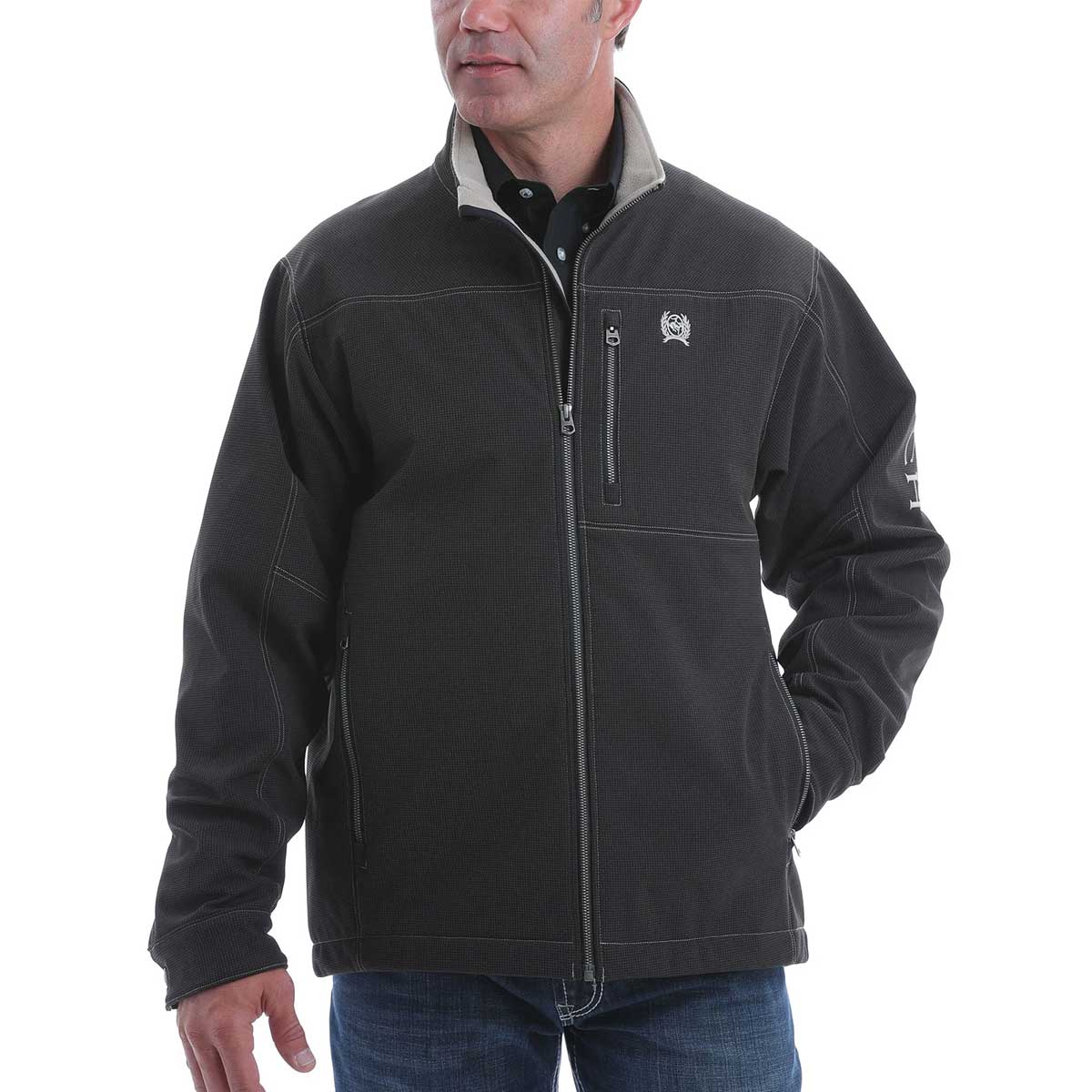 Cinch Men's Concealed Carry Bonded Jacket - Black Silver