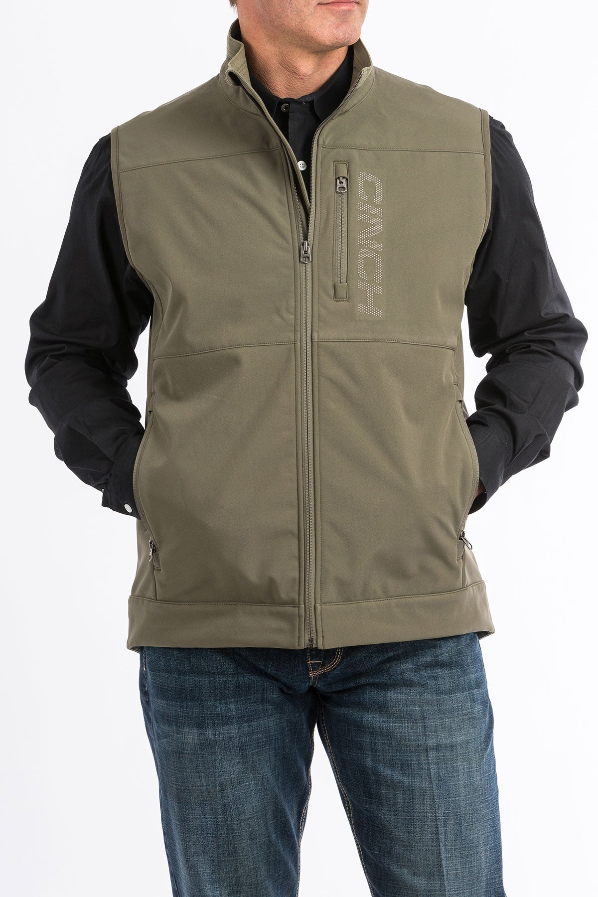 Cinch Olive Windproof Men's Vest