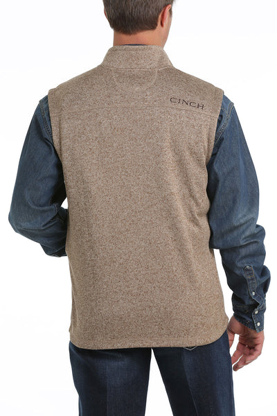 Cinch Sweater Knit Men's Khaki Vest