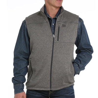 Cinch Jeans Men's Sweater Vest - Heather Grey