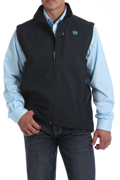 Cinch Bonded Charcoal and Electric Blue Men's Vest