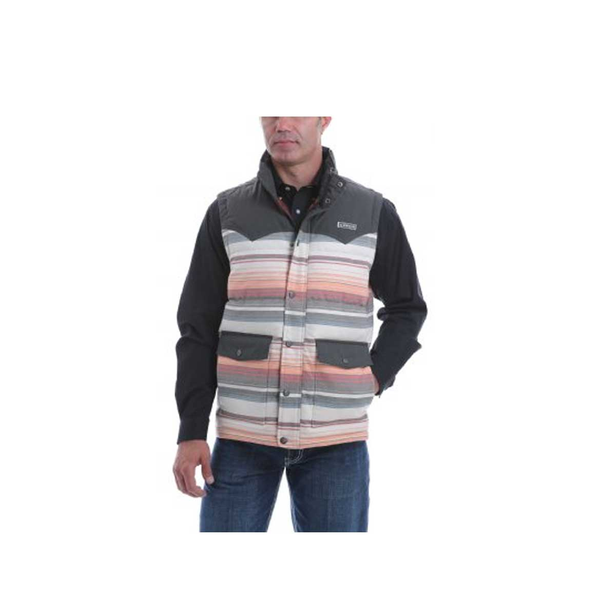 Cinch Men's Blanket Stripe Quilted Vest
