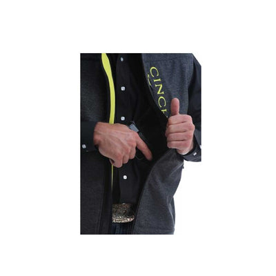 Cinch Men's Concealed Carry Bonded Vest - Charcoal Lime Green