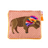 Tassel Bison Zipper Pouch