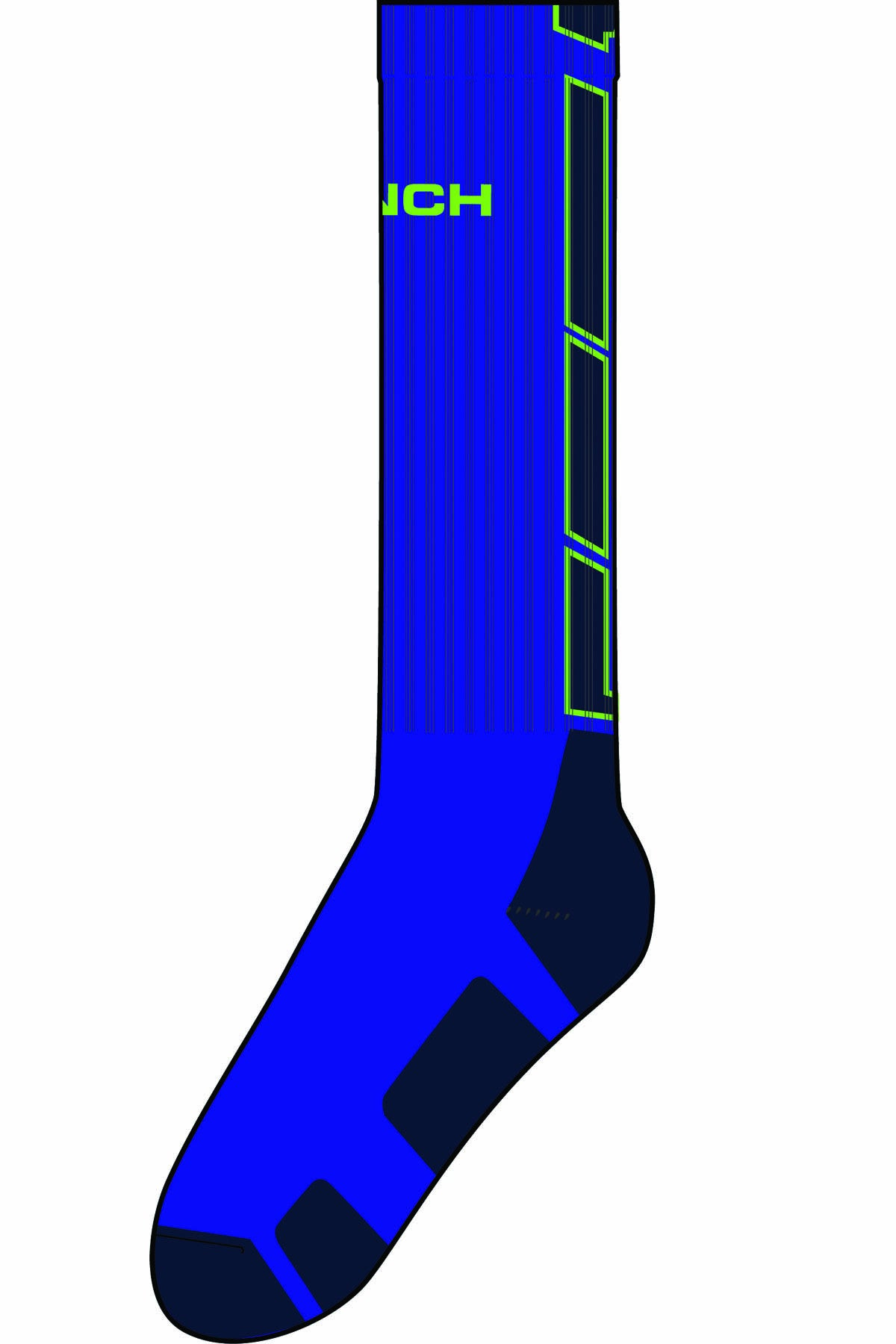 Cinch Royal Blue Men's Crew Socks
