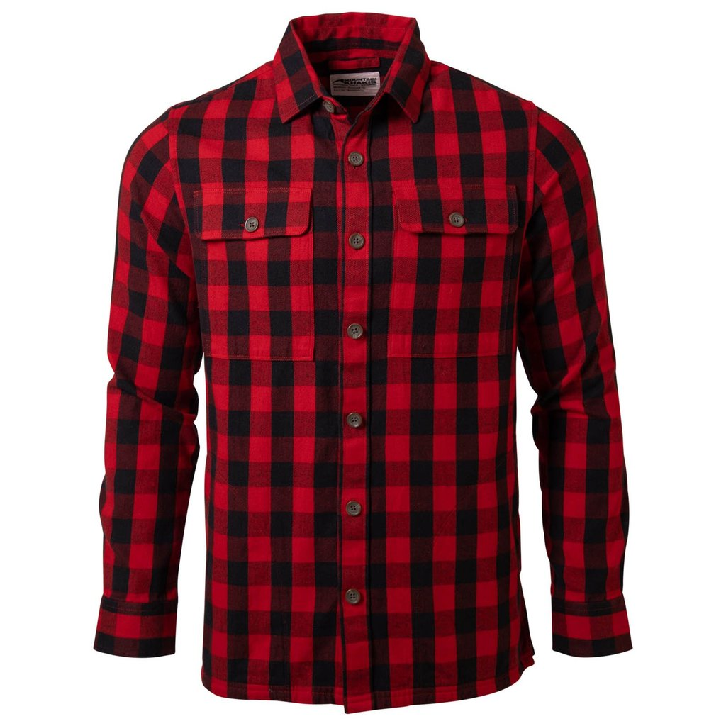 Mountain Khakis Engine Red Plaid Patrol Overshirt Flannel