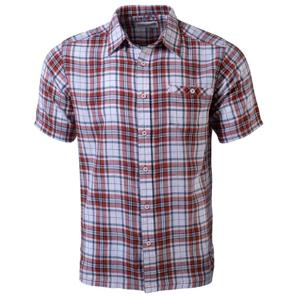 Men's Mountain Khakis Shoreline Red Orange Short Sleeve Shirt