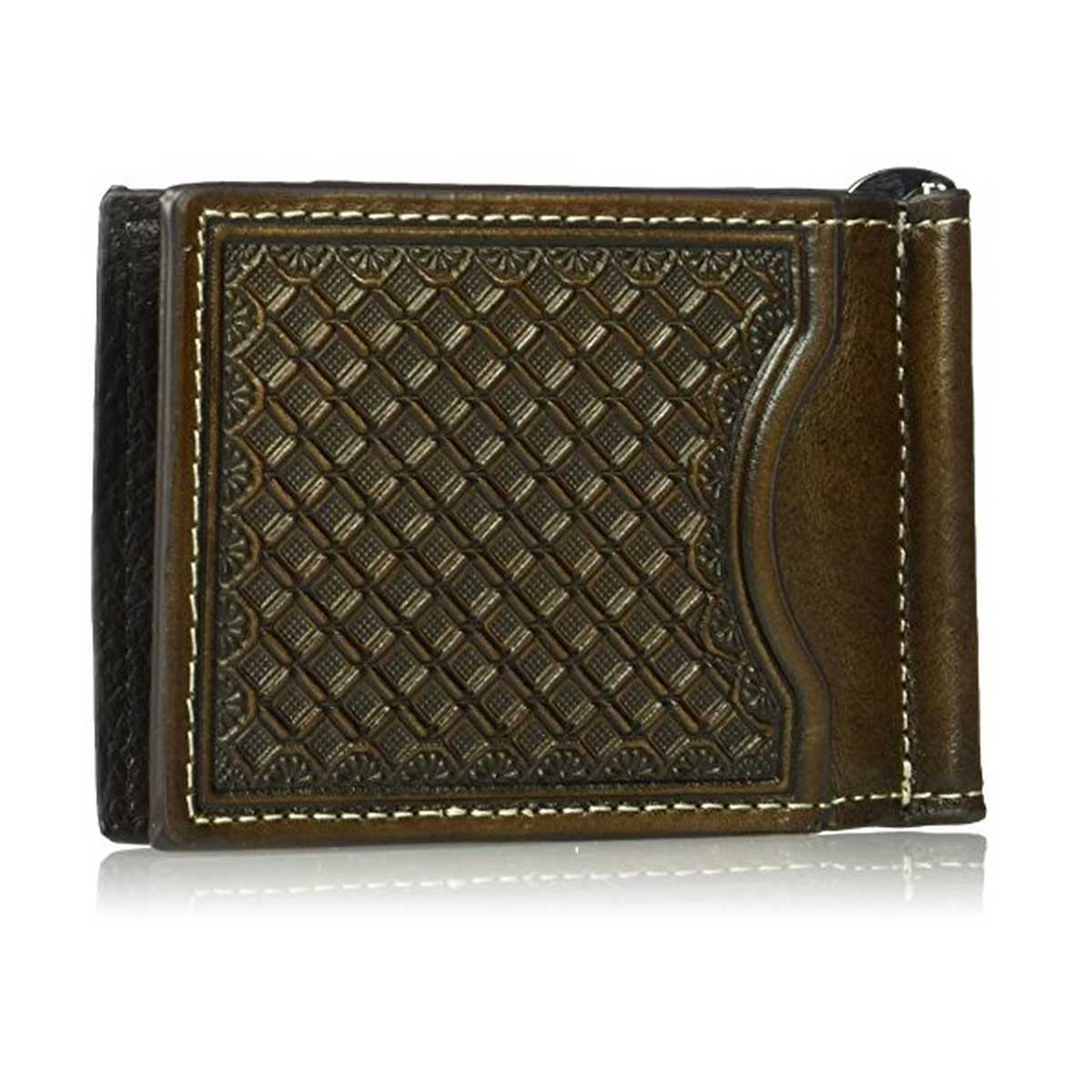 M & F Western Embossed Bifold Wallet with Money Clip