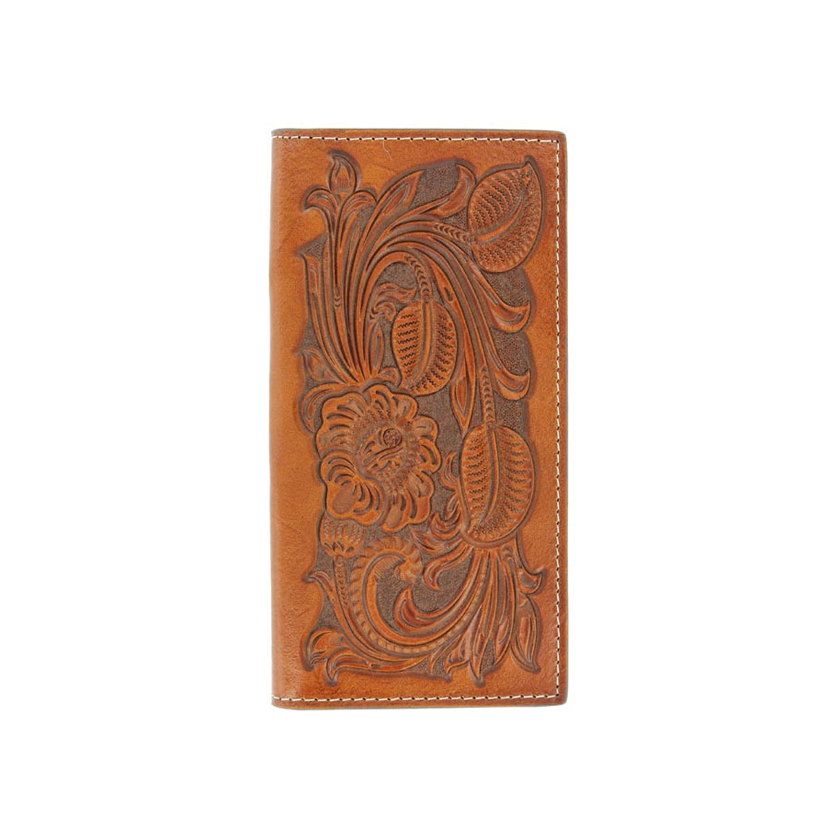 Nocona Floral Tooled Pro Rodeo Series Checkbook Wallet
