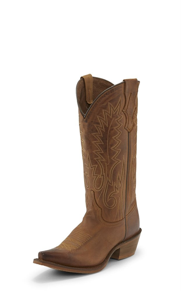 Nocona Etta Brown Snip Toe Cowgirl Boot