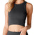 NIKIBIKI Women's Vintage Chevron Highneck Crop Top - VT Black