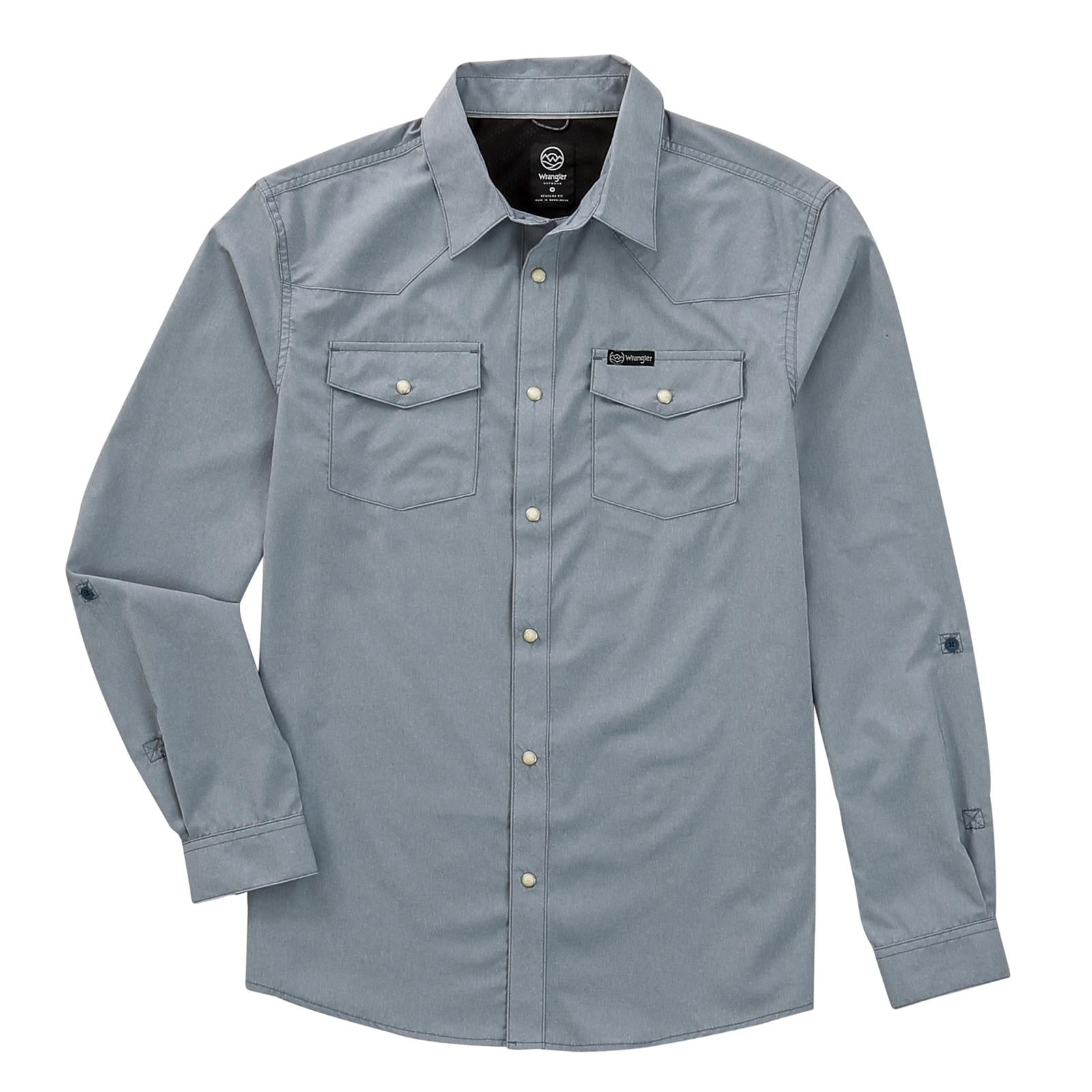 Wrangler Long Sleeve All Terrain Gear Fishing Shirt