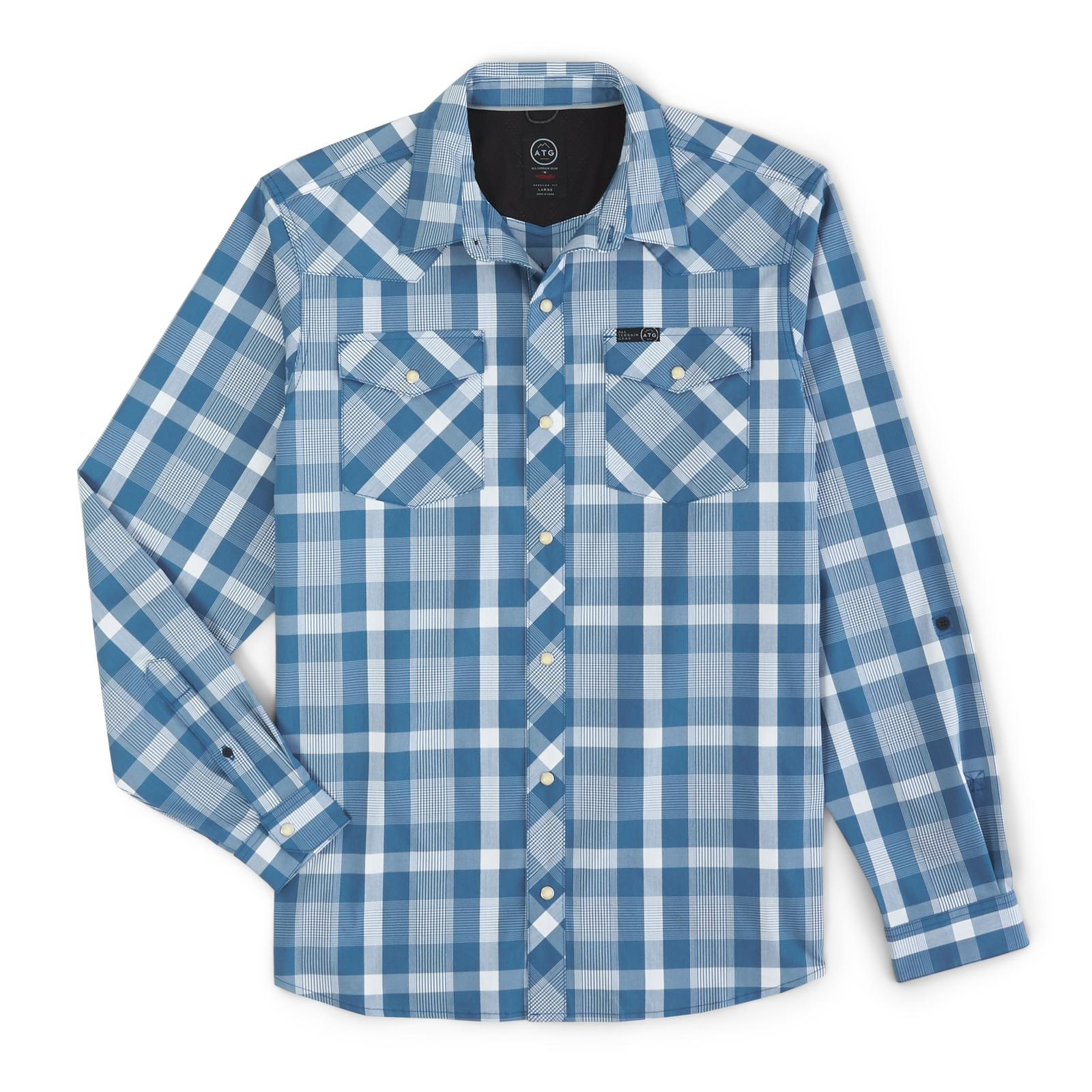 Wrangler® ATG X Western Plaid Utility Long Sleeve Shirt