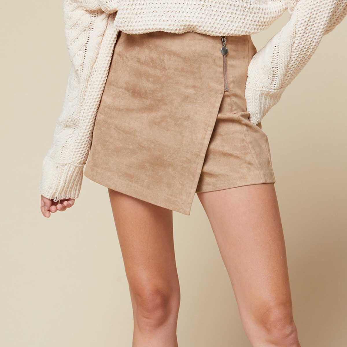 Entro Women's High-Rise Skort - Camel