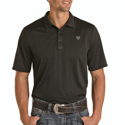 Panhandle Men's Casual Polo Short Sleeve Shirt - Black