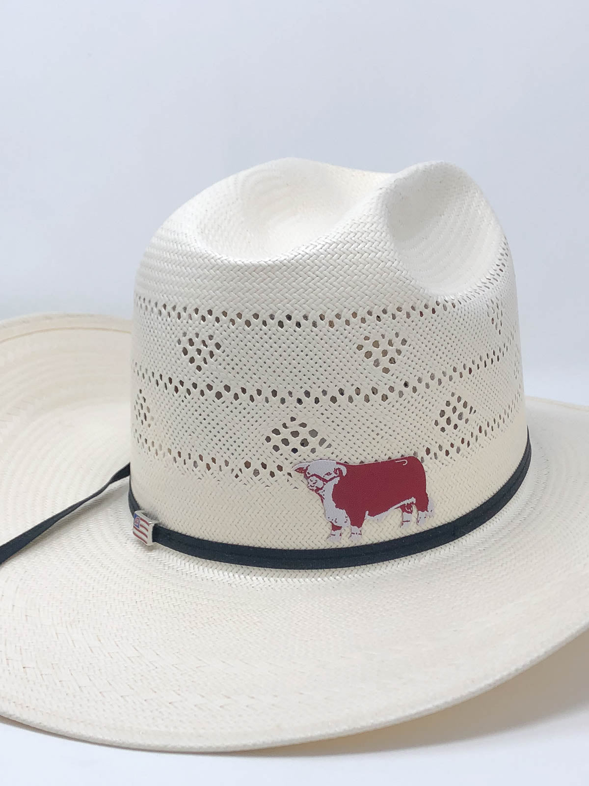 Lazy J Ranch Wear Hereford Straw/Felt Hat Patch Sticker