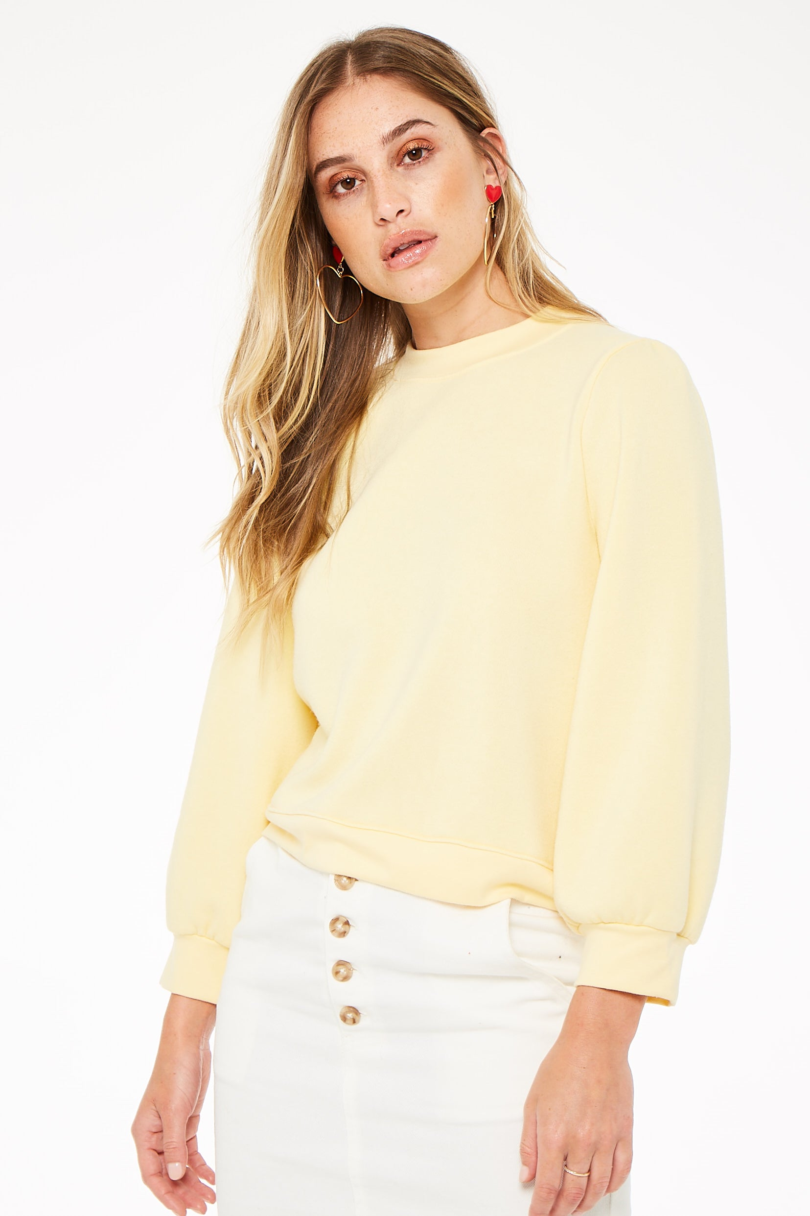 Crush On You Butter Yellow Sweatshirt