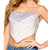 Lovely Day Women's Bandana Crop Top - Lavender Grey