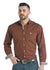 Panhandle Brown Long Sleeve Men's Button Down Shirt