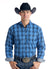 Panhandle Slim Long Sleeve Blue Men's Button Down