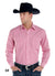 Panhandle Rough Stock Pink Tencil Stripe Men's Snap Shirt