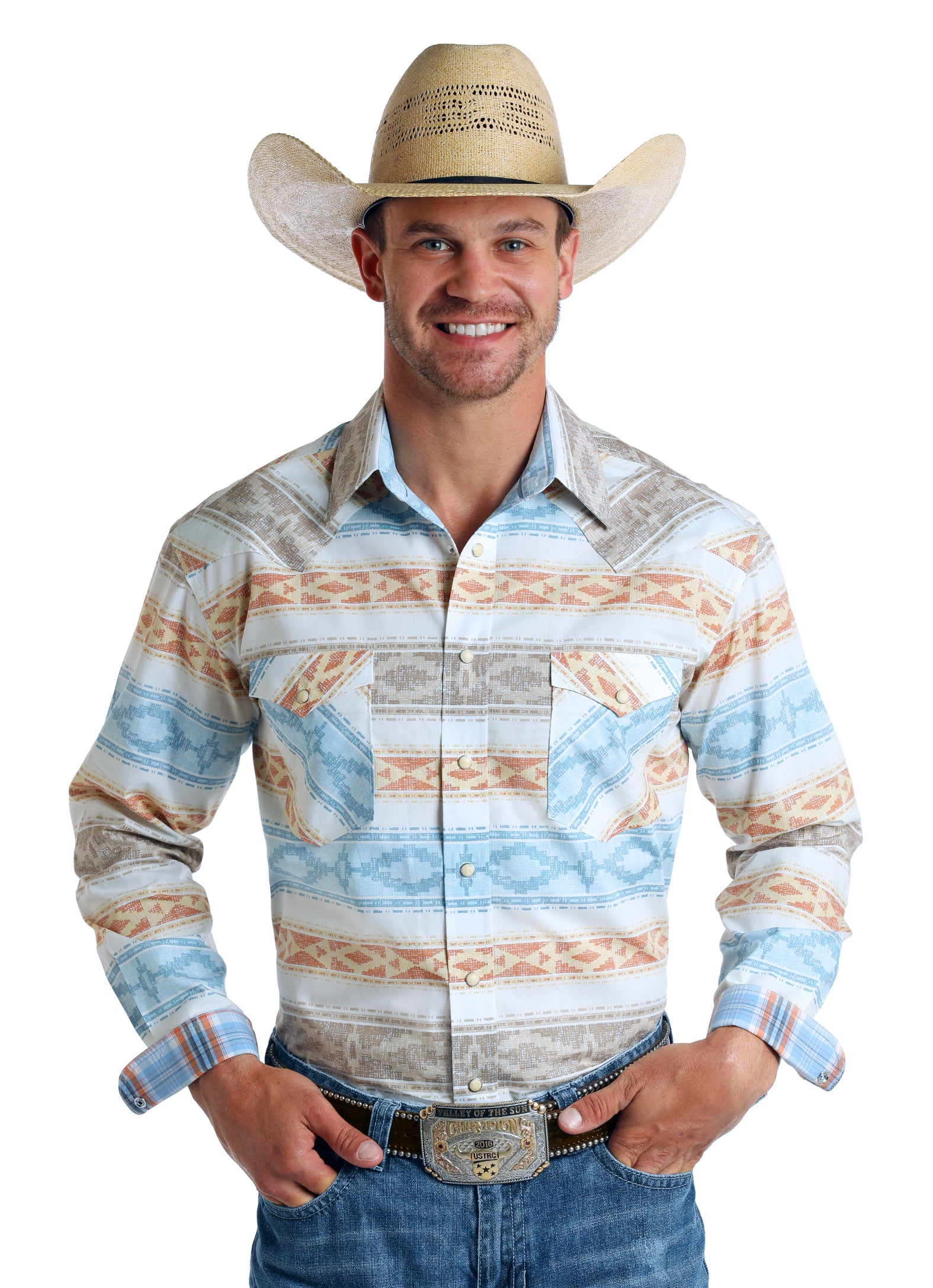 Panhandle Rough Stock Long Sleeve Pearl Snap