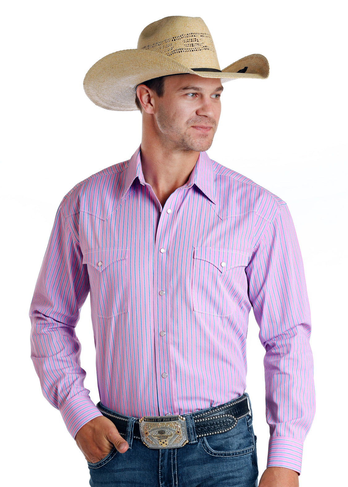 Panhandle Rough Stock Long Sleeve Pearl Snap Shirt