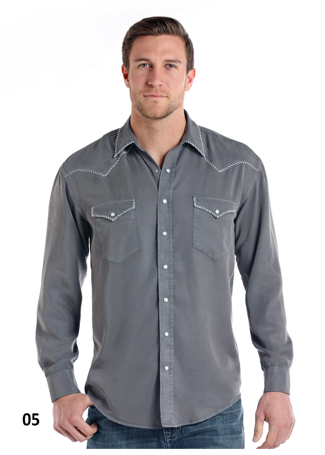 Panhandle Long Sleeve Men's Pearl Snap Shirt