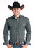 Panhandle Rough Stock Black Geo Print Men's Snap Shirt
