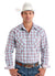 Panhandle Rough Stock Blue Plaid Men's Snap Shirt