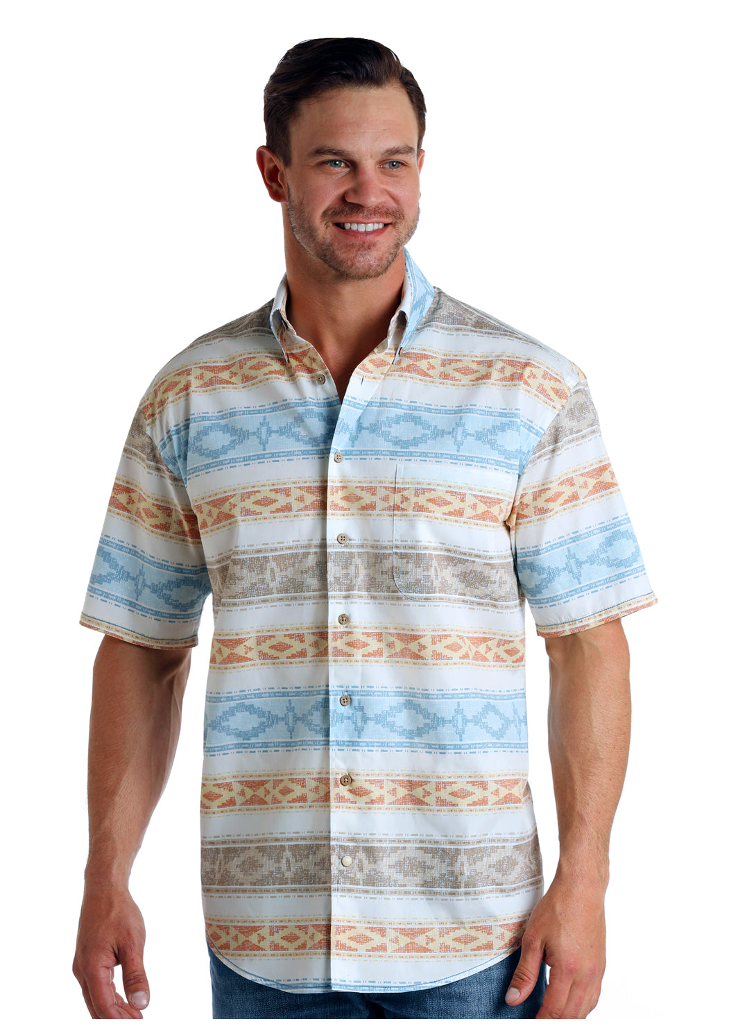 Panhandle Rough Stock Stretch Men's Shirt