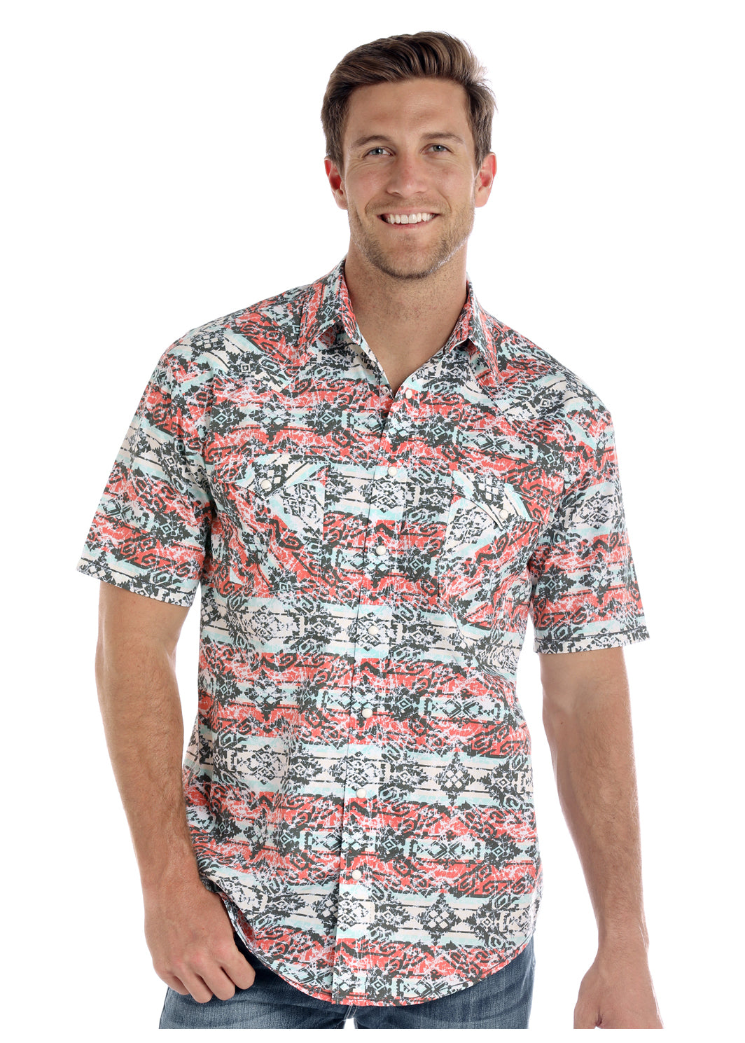 Panhandle Aztec Print Short Sleeve Shirt