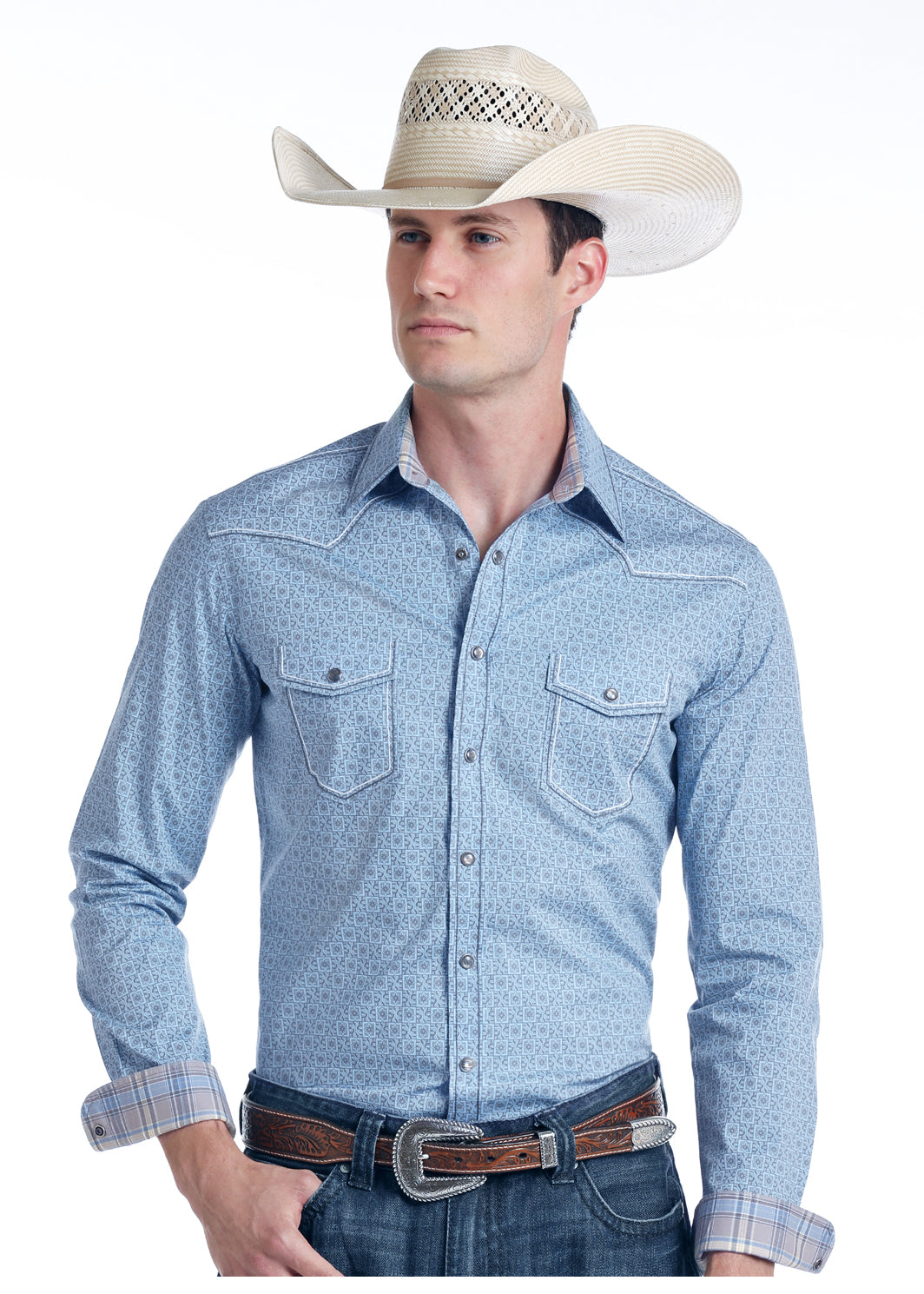 Panhandle Pearl Snap Long Sleeve Men's Button Down