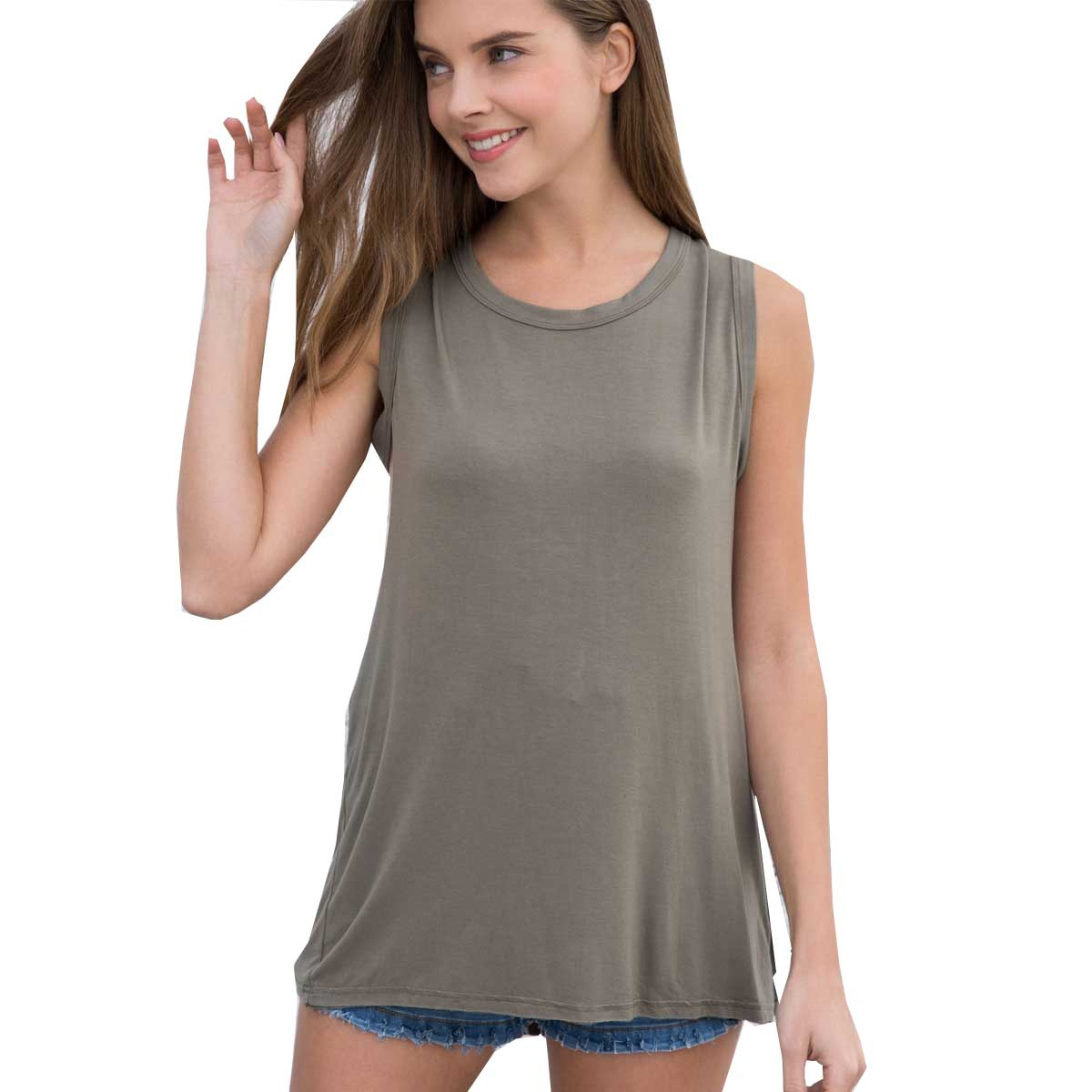 Pol Clothing Women's Tank Top - Olive