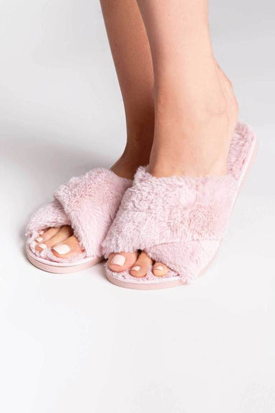 PJ Salvage Rose Quartz Fluffy Women's Slippers