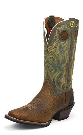 Tony Lama Men's Bark Bull Buffalo