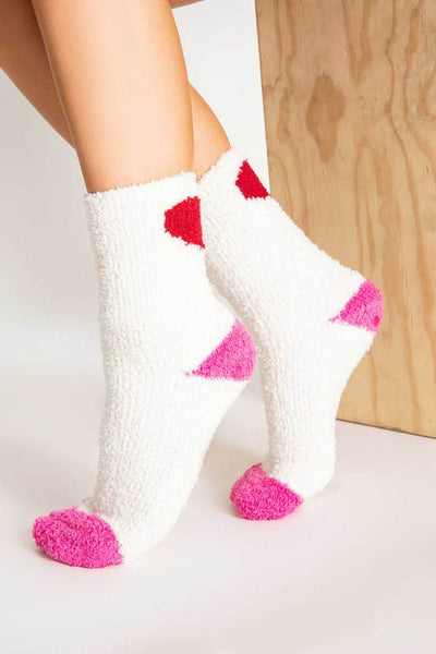 PJ Salvage Women's Plush Ivory Fun Socks