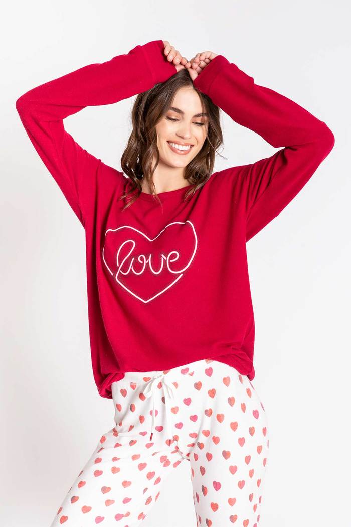 PJ Salvage All Things Love Long Sleeve Top