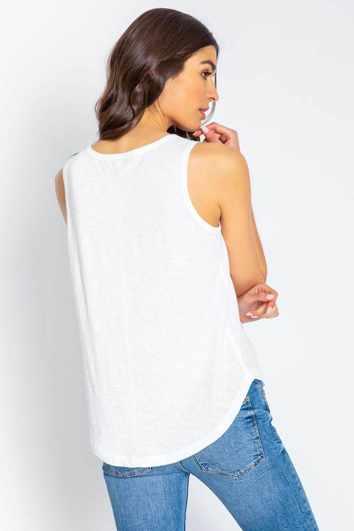 PJ Salvage Ivory Basic High Neck Tank
