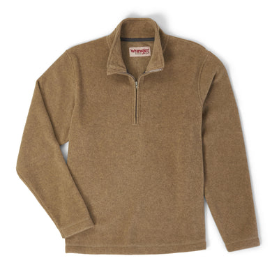 Wrangler Men's Quarter-zip Fleece Pullover Sweater