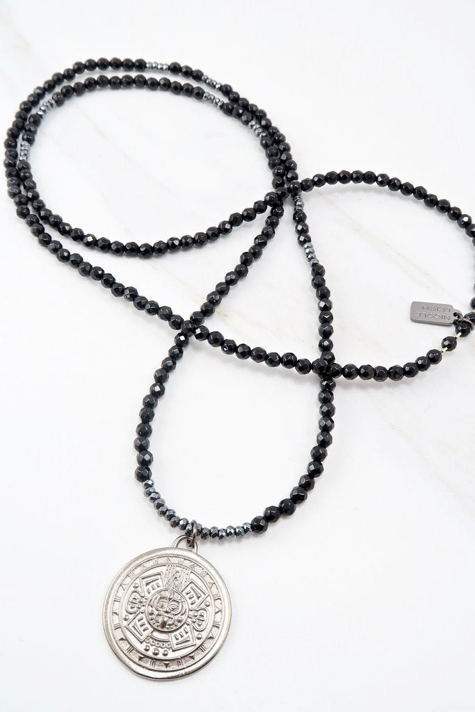 Rayna Onyx Necklace By Nicole Leigh
