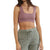 By Together Women's Seamless Wide Shoulder Strap Crop Tank Bra Top - Vintage Mauve