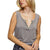 Pol Clothing Women's Basic What-Not Knit Top - Mist Charcoal