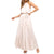 She + Sky Women's Sleeveless Satin Maxi Dress - Ecru