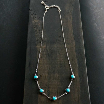 Sowell Jewelry 5 Stone Turquoise Necklace