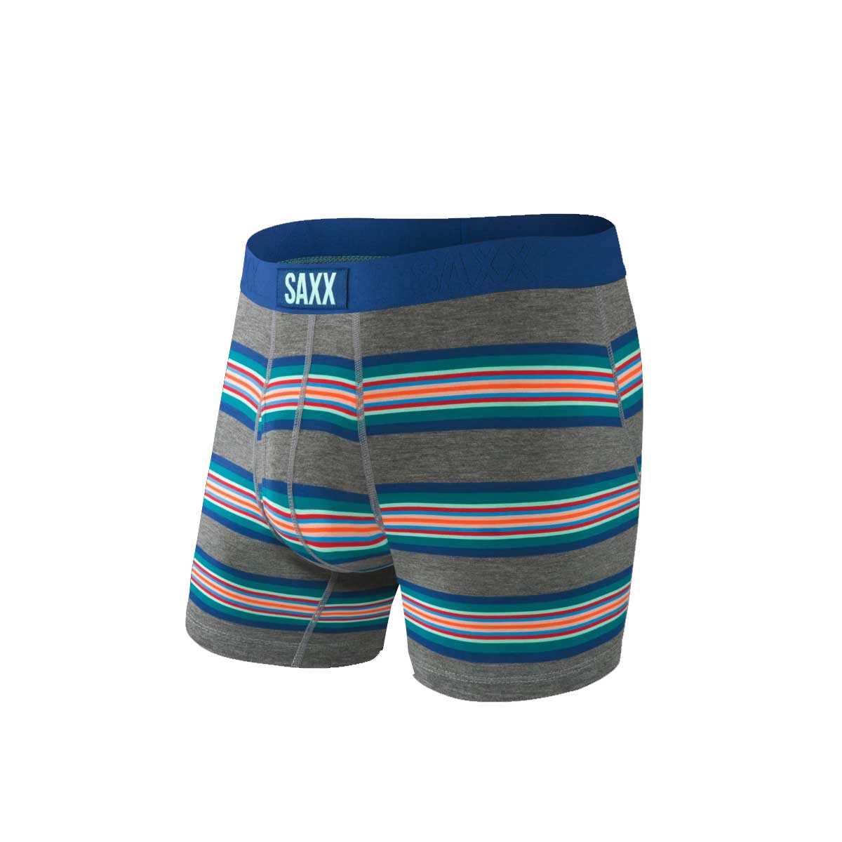 Saxx Underwear Ultra Boxer Brief - Grey Banner Stripe