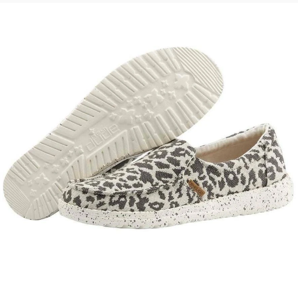 Hey Dude Women's Misty Slip Ons - Cheetah Grey