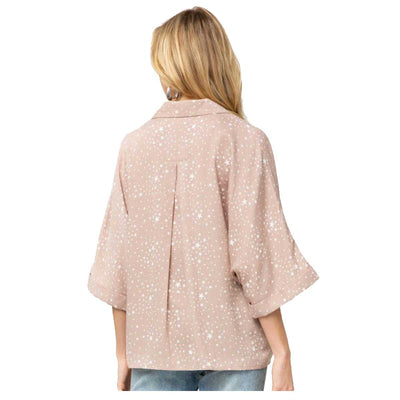 Entro Women's No Filter Star Blouse - Camel
