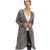 First Love Women's Knit Hooded Cardigan - Army Charcoal
